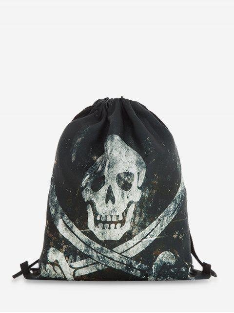 Halloween Drawstring Gothic Rucksack - Schwarz  Mobile