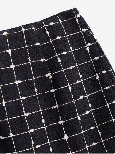 ZAFUL格紋迷你美人魚裙 - 黑色 M Mobile