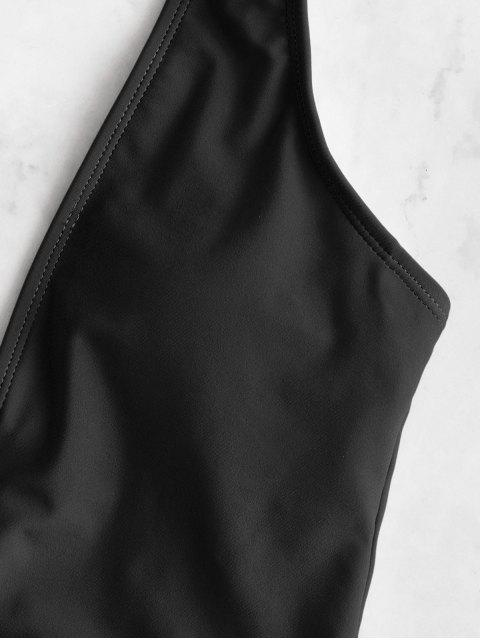 shops ZAFUL Plunging Padded One-piece Swimsuit - BLACK L Mobile