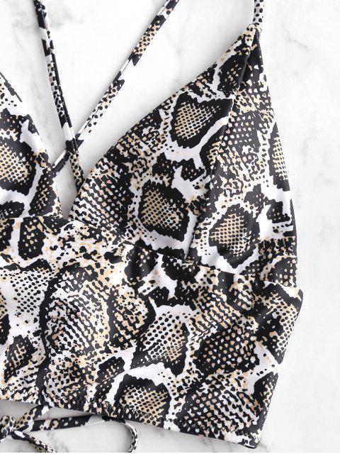 ZAFUL serpiente de encaje lo alto de la pierna de Tankini del traje de baño - Multicolor-A XL Mobile