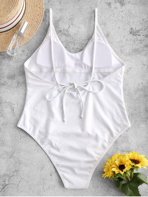 hot ZAFUL Cami Backless One-piece Swimsuit - WHITE XL Mobile