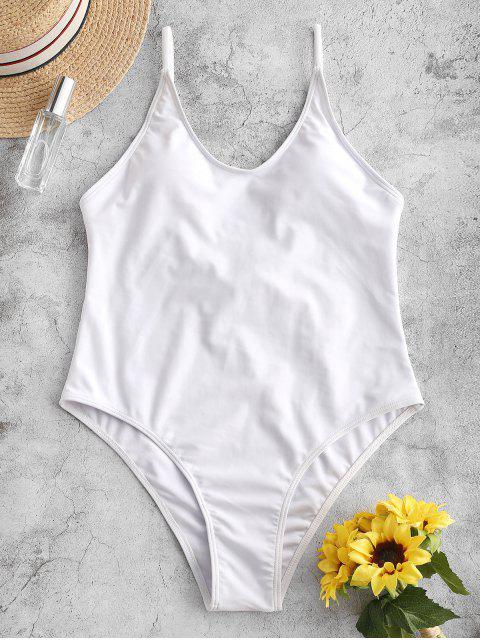 ZAFUL Cami sin respaldo de una sola pieza del traje de baño - Blanco S Mobile