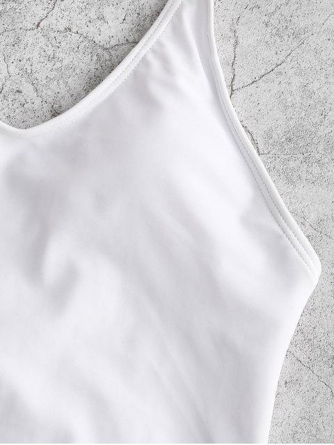 ZAFUL Cami sin respaldo de una sola pieza del traje de baño - Blanco M Mobile