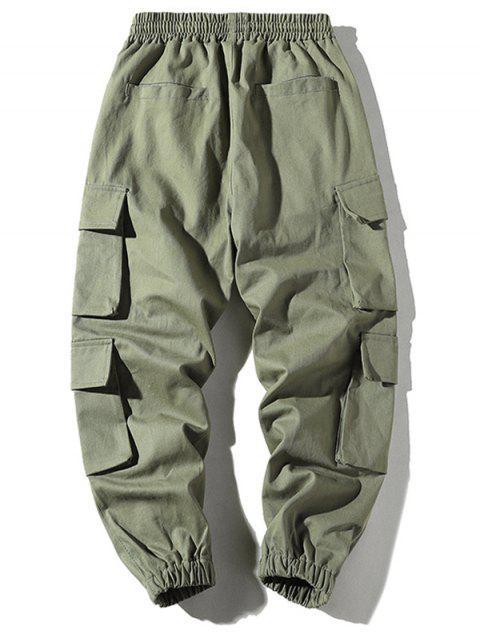 口袋抽繩慢跑褲 - 軍綠色 4XL Mobile