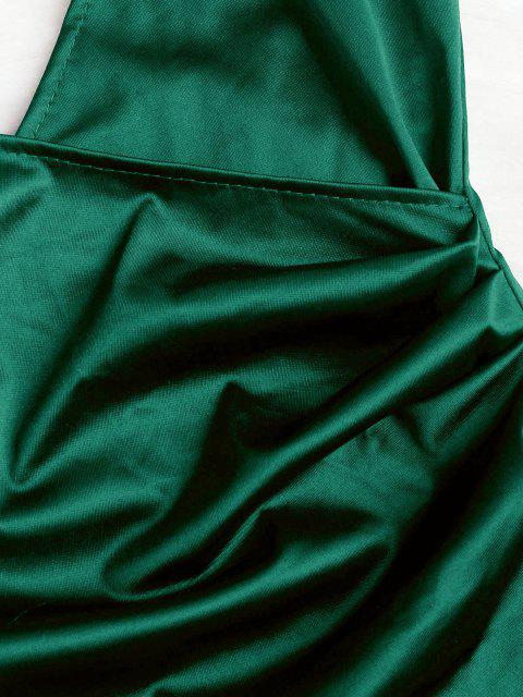 Chasuble- Drapierte Crossover-Slip-Partykleid - Mittleres Meer Grün M Mobile