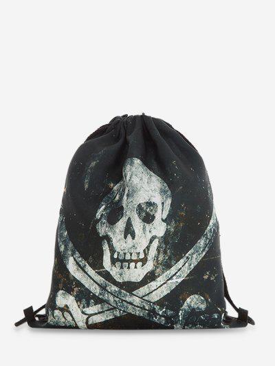 Mochila Gótica Con Cordón De Halloween - Negro