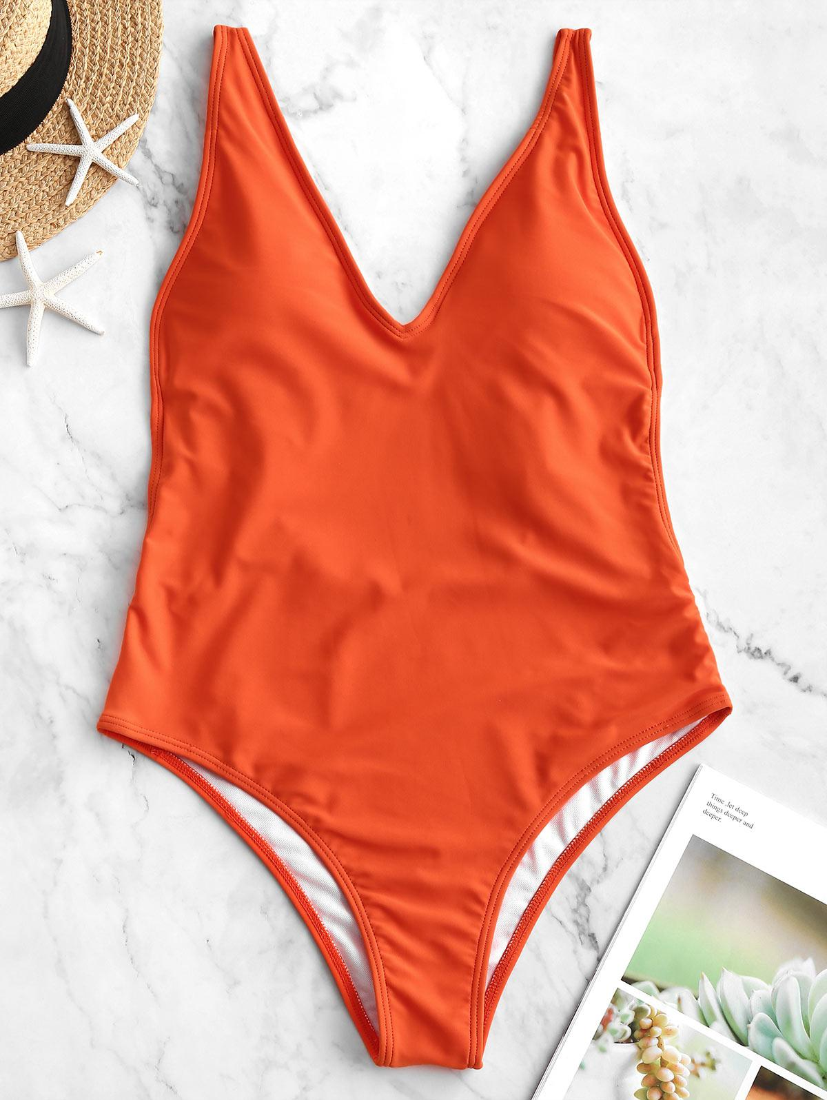ZAFUL Dual Strap Backless One-piece Swimsuit thumbnail