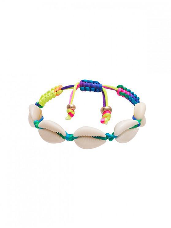 sale Natural Shell Adjustable Rope Bracelet - MULTI-A