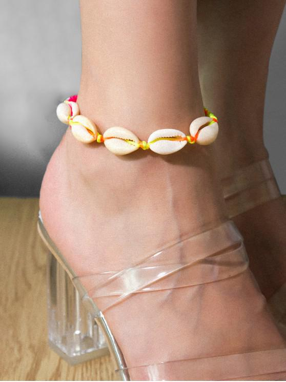 best Casual Shell Adjustable Rope Anklet - MULTI-A