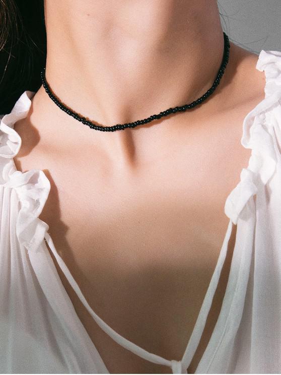 簡約串珠項鍊 - 黑色