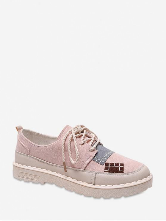 Patch couleur bloc chaussures à talons bas - Rose  EU 36
