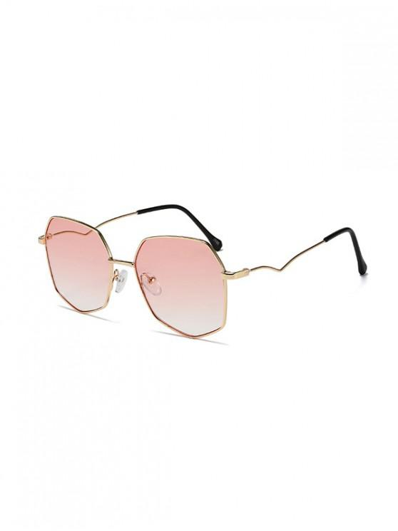 ladies Vintage Travel Irregular Metal Sunglasses - PIG PINK