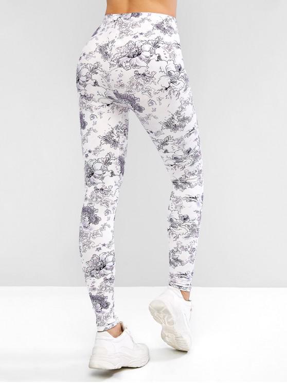 FleursBlanc Haute À Portez Leggings M Taille Des WHb2eDIYE9