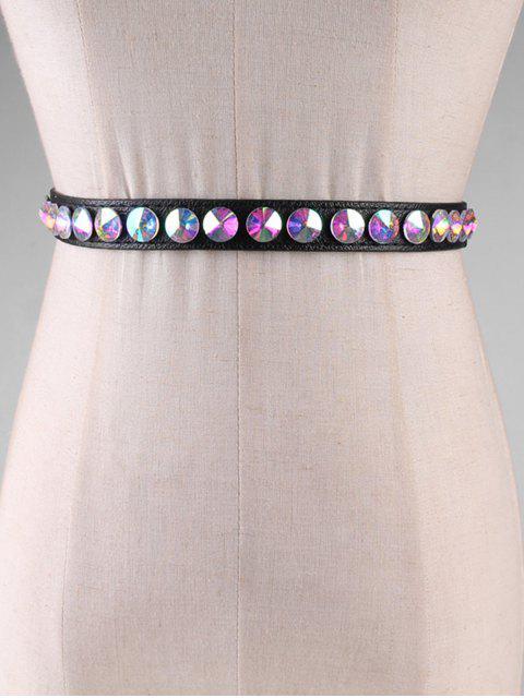 shop Rhinestone Decoration PU Waist Belt - MULTI-A  Mobile