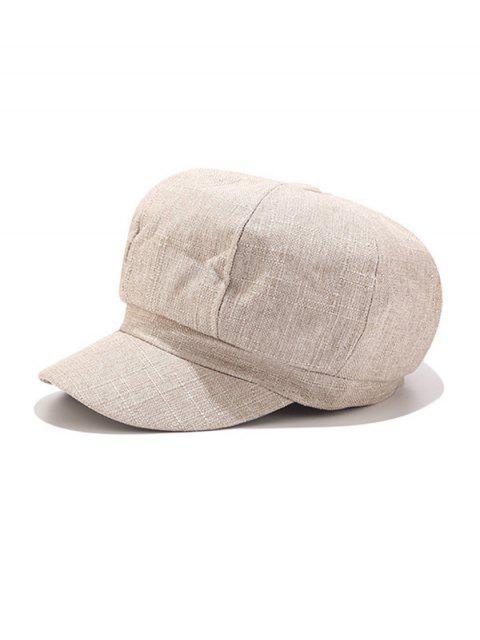outfit Vintage Linen Octagonal Cap - BEIGE  Mobile
