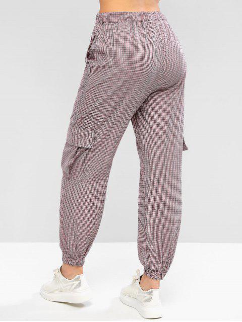 Pantalones de chándal con cordón de cadenas de guinga - Multicolor-A M Mobile