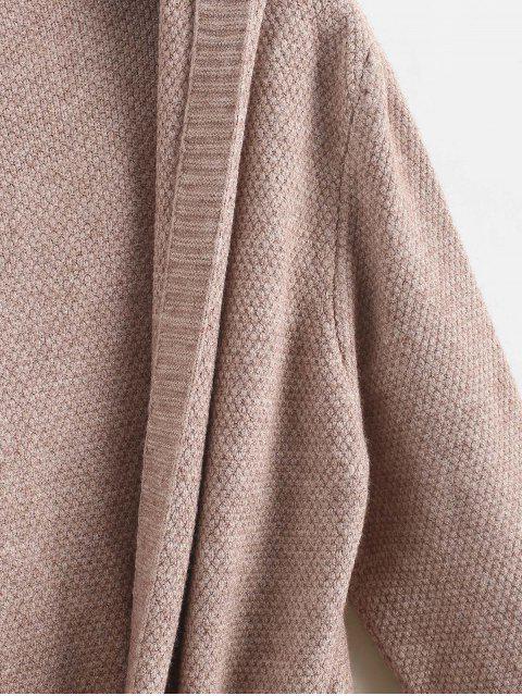 Cárdigan con bolsillos con cordón y palangre - Caqui Talla única Mobile