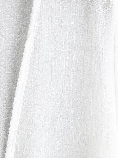 Расклешенный рукав Открытый фронт Длинная Накидка - Белый Один размер Mobile