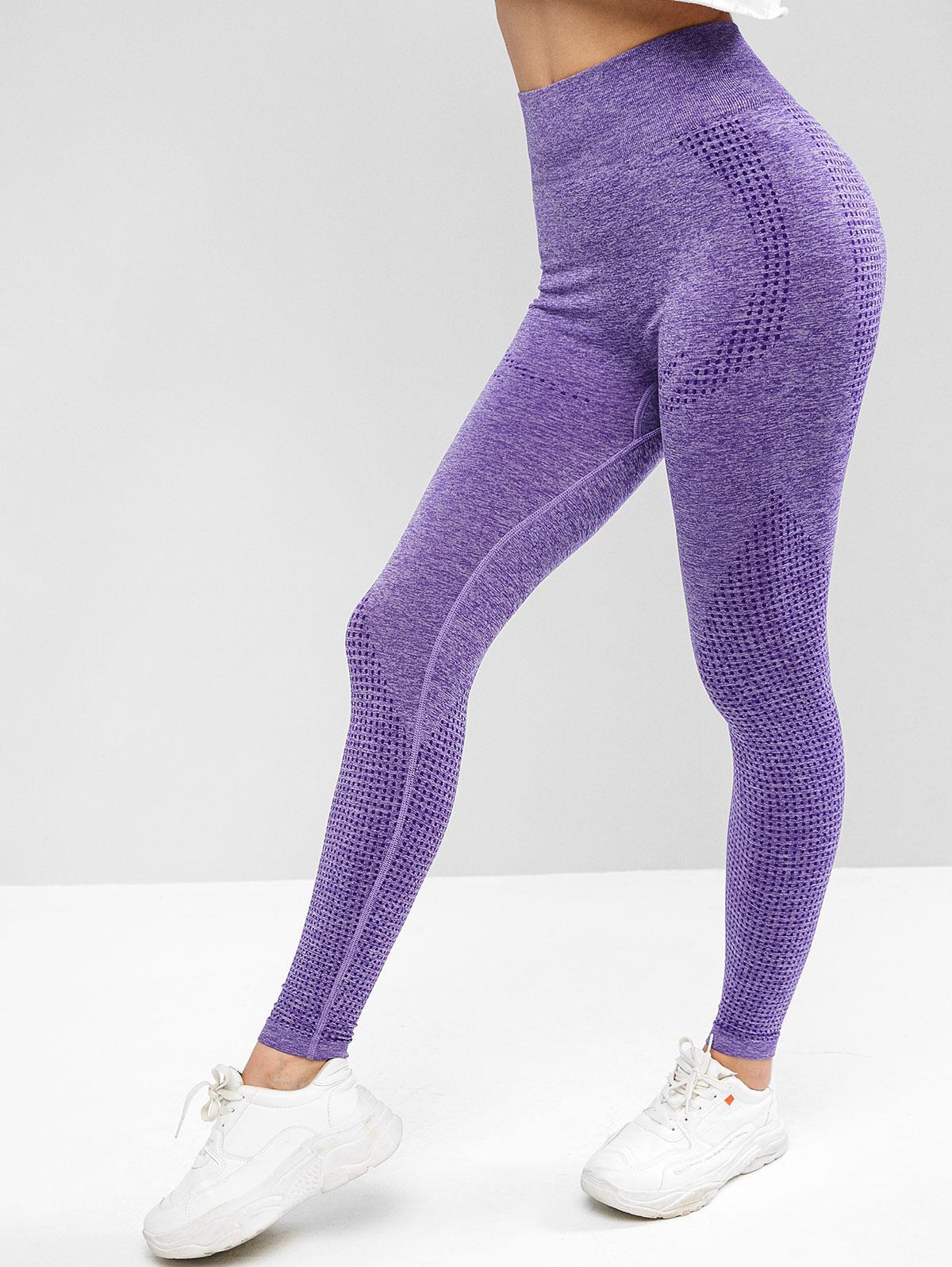 Space Dye Wide Waistband Yoga Gym Leggings thumbnail