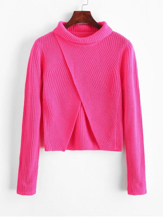 buy Turtleneck Tulip Jumper Sweater - DEEP PINK M