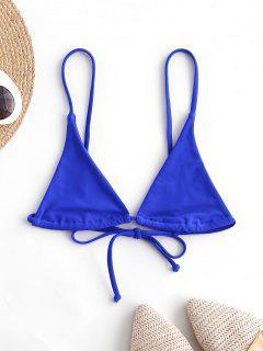 Bikini Top Di ZAFUL In Tinta Unita - Blu Cobalto S