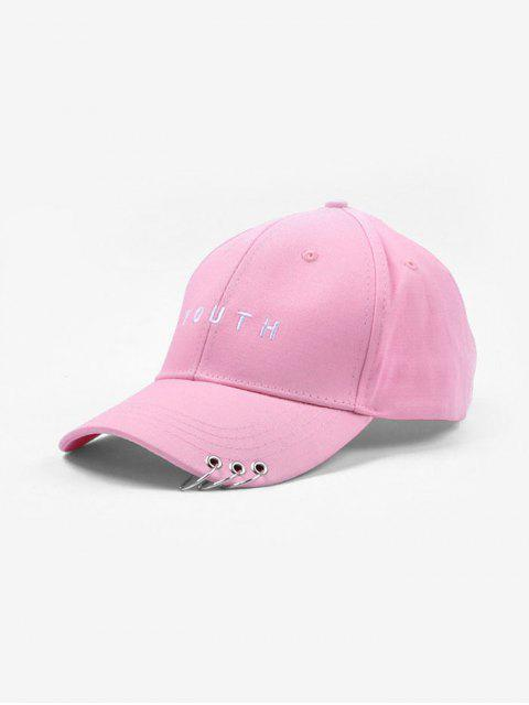 ladies O-ring Youth Embroidery Baseball Cap - PINK  Mobile