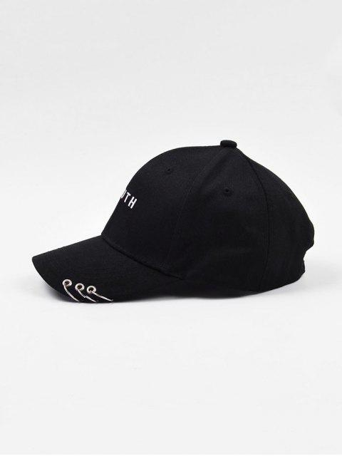 latest O-ring Youth Embroidery Baseball Cap - BLACK  Mobile