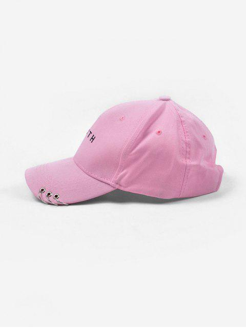 womens O-ring Youth Embroidery Baseball Cap - LIGHT PINK  Mobile