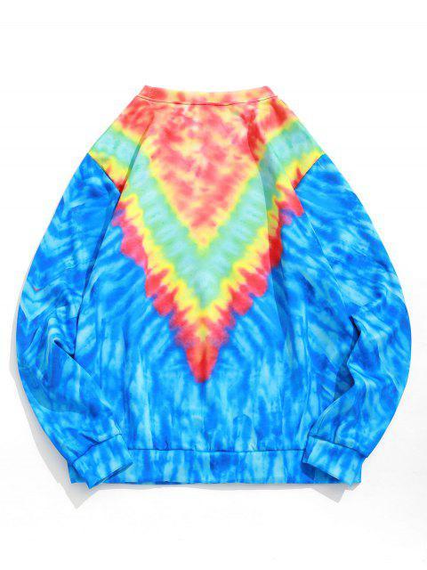 領帶染色圓領套頭衫運動衫 - 藍莓藍 S Mobile