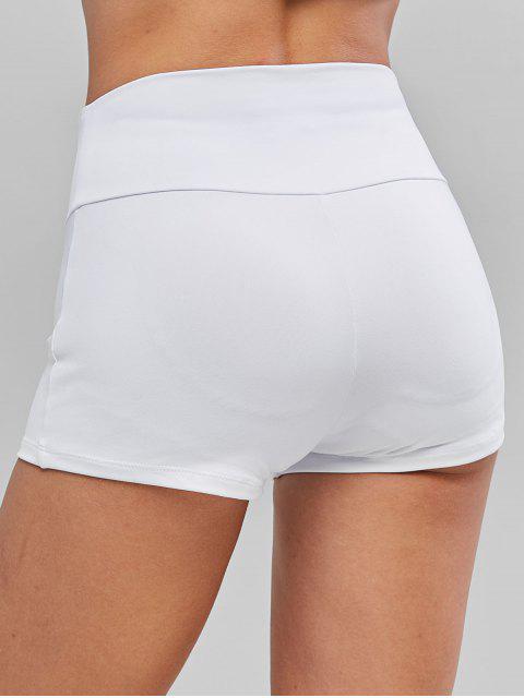 Solid Sports中腰迷你緊身褲 - 白色 L Mobile