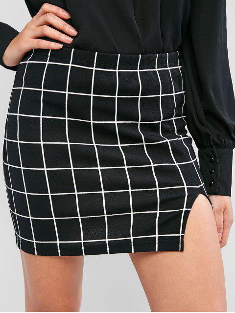 ZAFUL網格開衩下擺護套裙 - 黑色 XL Mobile