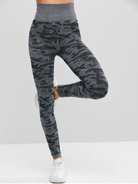 outfit Camouflage High Waist Knitted Leggings - MULTI M Mobile