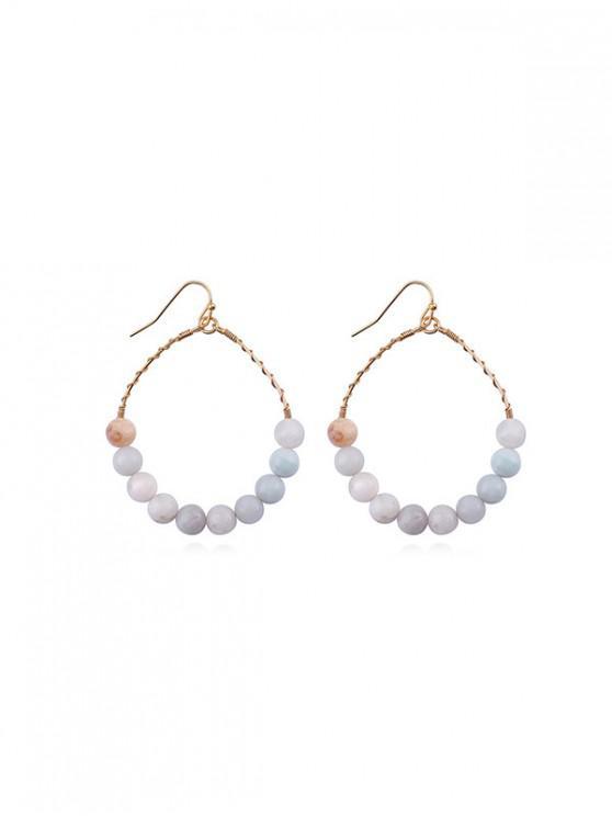 womens Hoop Beads Round Dangle Earrings - ACU CAMOUFLAGE