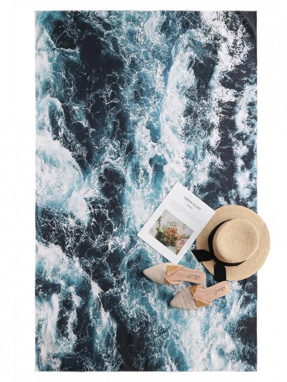 El agua de mar ZAFUL rectángulo tiro Imprimir Beach - Verde de Mar  Talla única