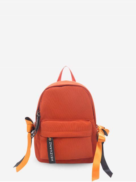 new Mini Simple Solid Small Student Backpack - PAPAYA ORANGE  Mobile