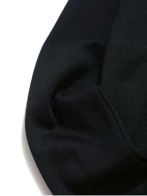 字母圖形打印圓領套衫運動衫 - 黑色 2XL Mobile