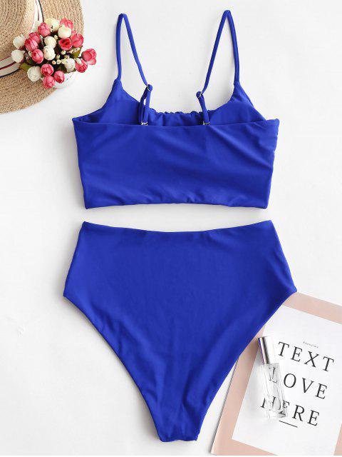 ZAFUL Llanura de talle alto Cami Tankini del traje de baño - Azul Cobalto 2XL Mobile