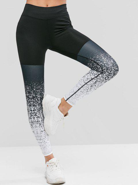 outfits High Waist Speckled Sports Leggings - MULTI M Mobile