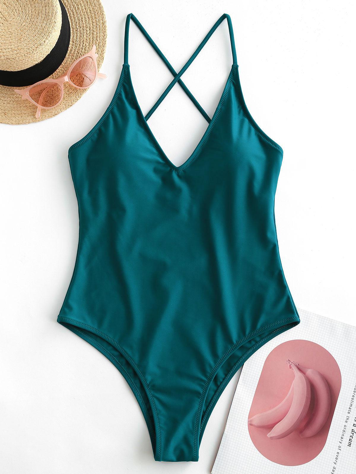 ZAFUL Criss Cross Basic One-piece Swimsuit thumbnail