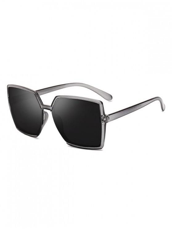fashion Oversized Square Anti UV Sunglasses - CARBON GRAY