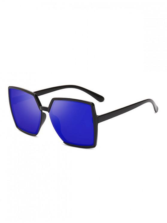 unique Oversized Square Anti UV Sunglasses - BLUEBERRY BLUE