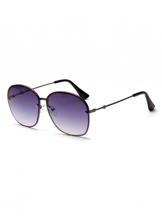 buy Oversized Glitter Metal Ombre Sunglasses - GRAY