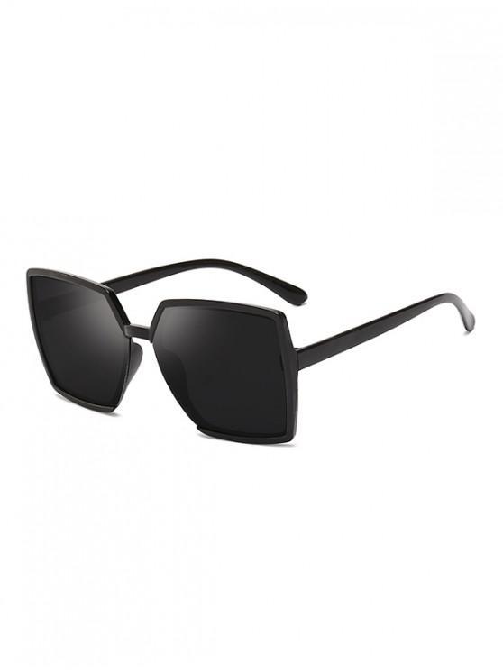 ladies Oversized Square Anti UV Sunglasses - BLACK