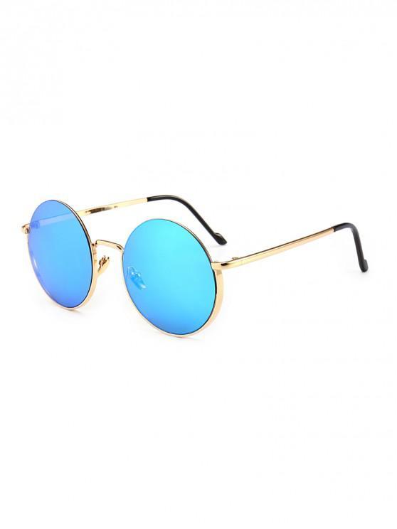 Круглые Винтажные Металлические Солнцезащитные Очки Анти-UV - Синий