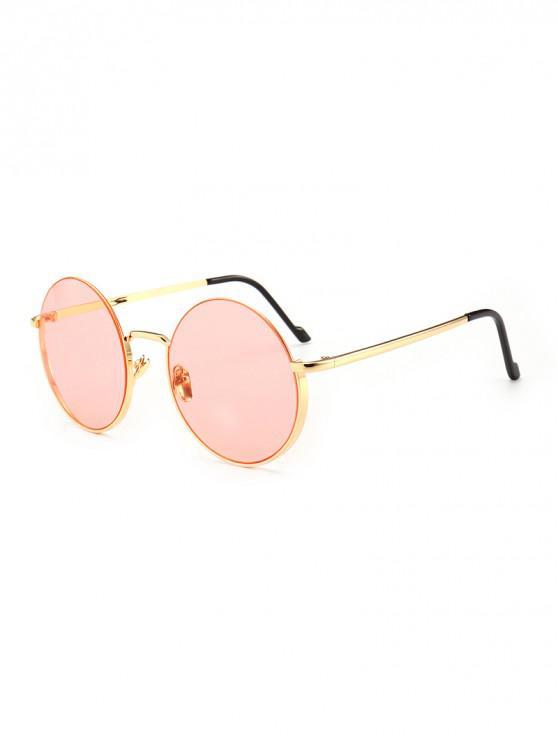 new Vintage Round Metal Anti UV Sunglasses - LIGHT PINK