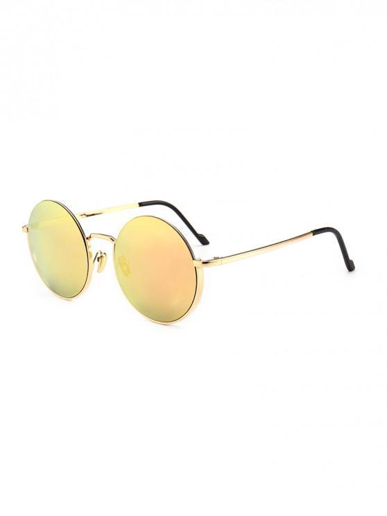 outfit Vintage Round Metal Anti UV Sunglasses - PINK