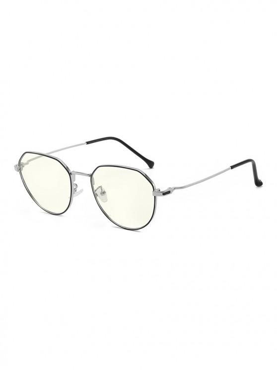 shops Brief Metal Anti Blue-ray Glasses - SILVER