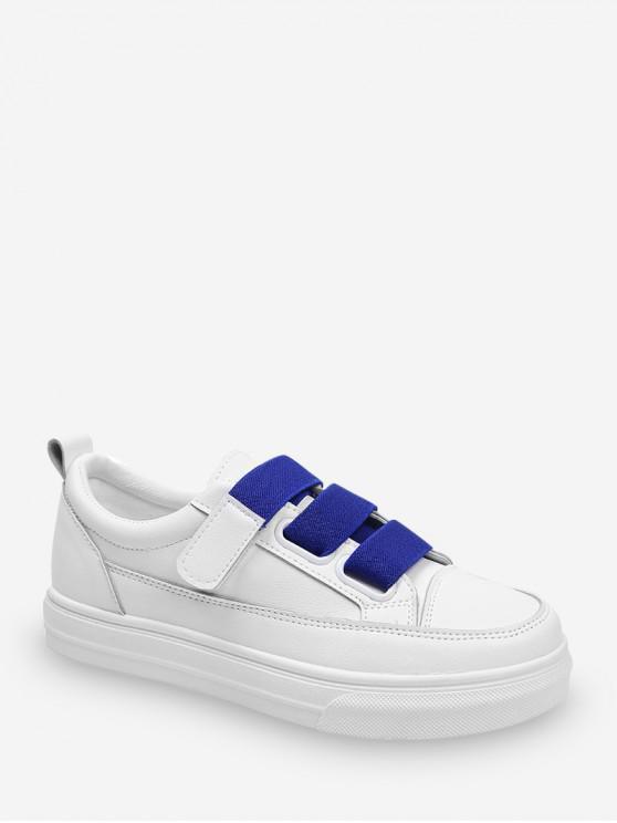 outfits Candy Color Hook Loop Skate Shoes - COBALT BLUE EU 36