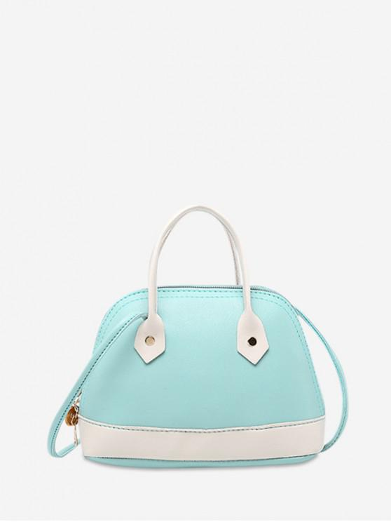 best Striped Shell Shape Crossbody Bag - TRON BLUE