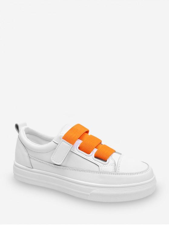 hot Candy Color Hook Loop Skate Shoes - ORANGE EU 39